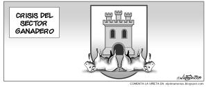 Hasta los toros del escudo de Talavera, en crisis. (27 de marzo)
