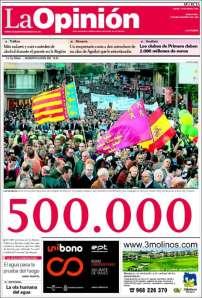 Primera de La Opinión de Murcia 19/03/09