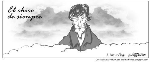 Viñeta homenaje a Antonio Vega, por Javi García
