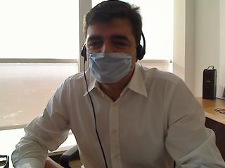 Luis García, en una foto hecha por él mismo con webcam.