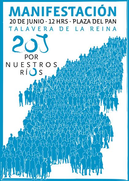 Cartel de la manifestación del 20-J: Por nuestros ríos