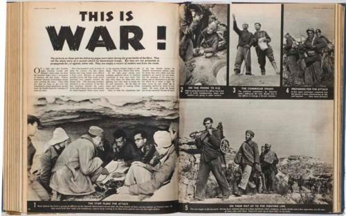Picture Post. 3 de diciembre de 1938. Reportaje de Capa sobre la batalla del Segre del que se ha tomado el título de la exposición