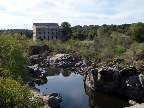 El río Tiétar en Monteagudo, frontera entre Toledo y Ávila.